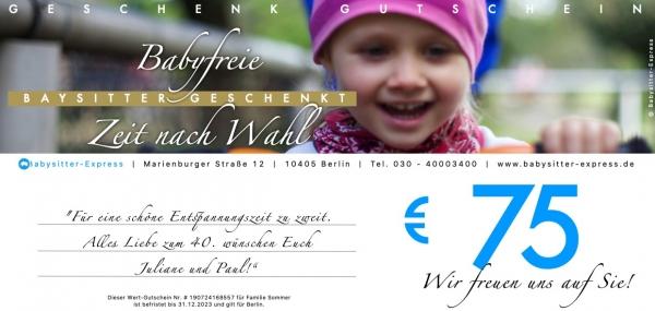 75 EUR Wert-Gutschein